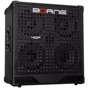 Caixa Para Baixo 4x10 Borne 410p Semi Nova Bass (cor: Preta)