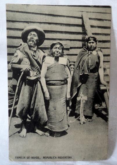 Postal Familia Indios Ibarra Sorroche Gaucho Argentina 504
