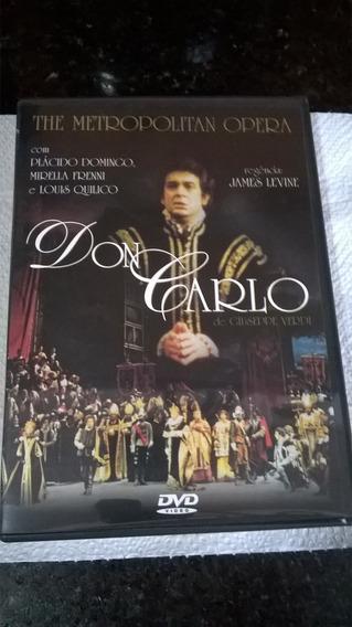 Dvd Opera Don Carlo: The Metropolitan Opera - Placido Doming