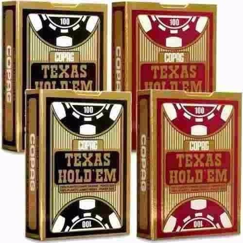 4 Baralhos Copag Texas Holdem 100% Plástico - Poker Size