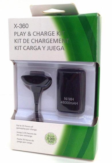 Carregador E Bateria Para Controle Xbox360 48000mah En007m