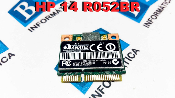 Mini Pci Wireless Hp 14 R052br R051br R050br Ar5b125