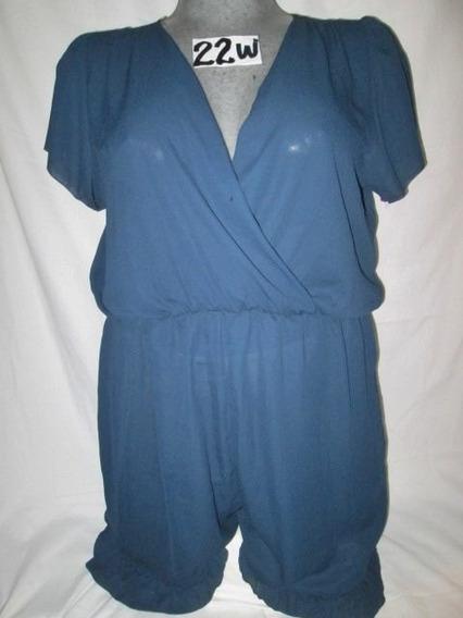 Vestido/short Jumpsuite Azul Talla 22w ( 42 Mex.) American