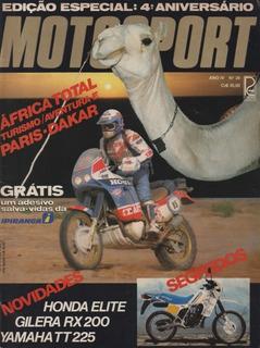 Moto Sport N°26 Paris-dakar 1987 Honda Elite Yamaha Tt 225