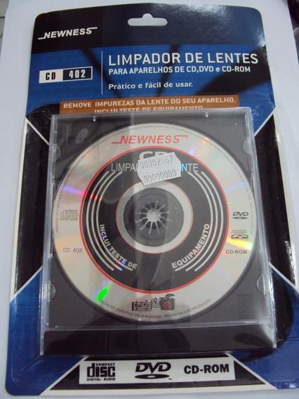 Cd Limpador De Lentes Para Aparelhos De Cd, Dvd E Cd Rom