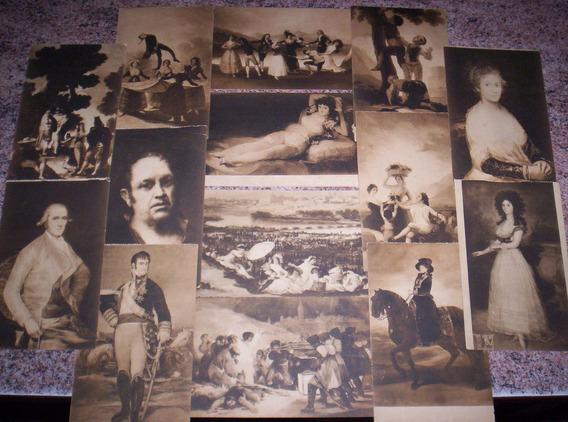 8 Hermosas Postales Antiguas: Obras De Goya, Museo Del Prado