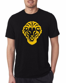 Camiseta Estampada León Bilbaíno Negro / Amarillo-oro
