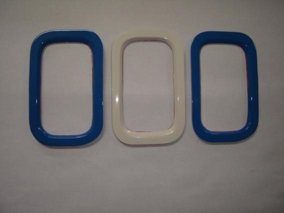 Aplique De Parachoque Azul Branco E Azul P/ Novo Uno - Bre
