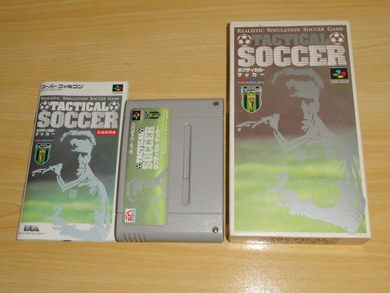 Tactical Soccer Super Famicom Super Nintendo Japan Leia