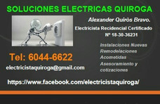Electrcista Recidencial Certificado