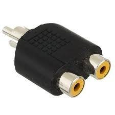 Adaptador Plug Niquelado 1 Rca Macho P/ 2 Rca Femea
