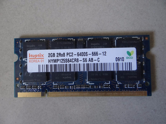Memória Ram 2gb Ddr2 Notebook 800mhz Pc2-6400s