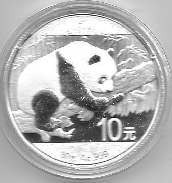 Moneda China 1 Onza Plata Año 2016 Oso Panda En Capsula