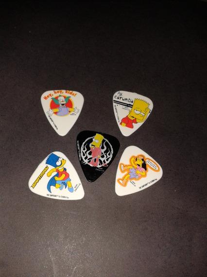 5 Palhetas Dos The Simpsons Grover Allman Made In Austrlia