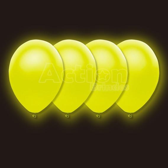 Balão Bexiga De Neon Amarelo Nº09 - Com 30 Unidades