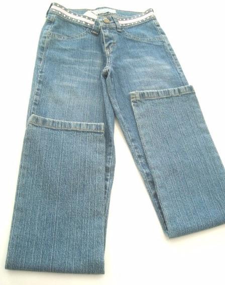 Calca Jeans C/fita Rosa Na Cintura Kizhny The