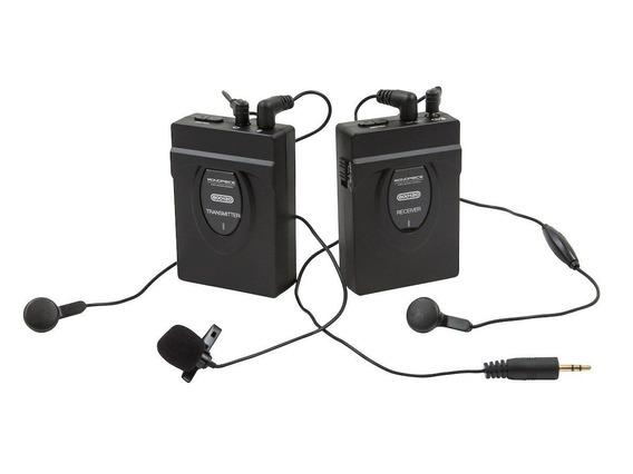 Microfone Lapela S/ Fio Wireless 2.4 Ghz Video Foto Monitor