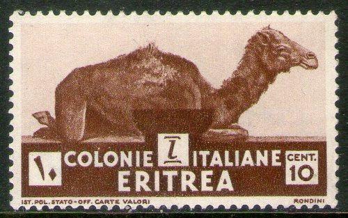 Eritrea Colonia Italiana Sello Nuevo Camello X 10c. Año 1933