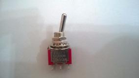 Mini Toggle Switch Spdt On/on (não É Lig/desl) T80-t 3 Pinos