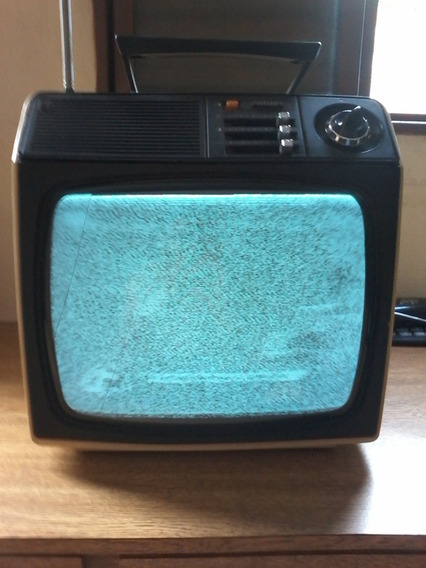 Tv Antiga Philips 12 P&b Amarela Ótimo Estado Reliquia