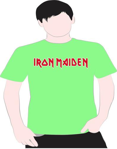 Paint Camiseta Iron  Maidem Verde 7