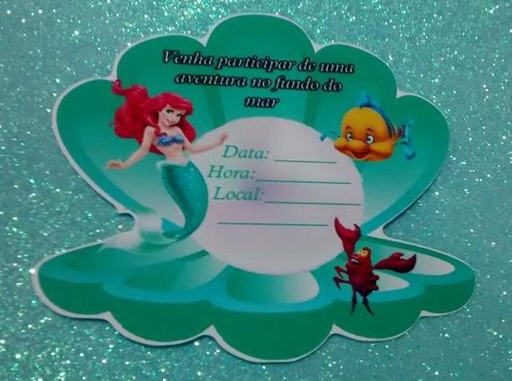 20 Ariel Convite Pequena Sereia Ariel