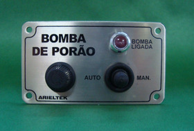 Painel/bomba De Porão/aço Inox/ligação Manual Ou Automático