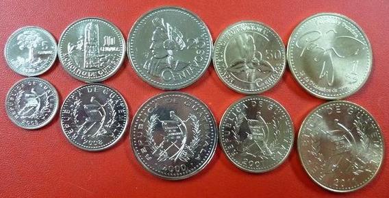Guatemala Set X 5 Monedas Monumentos Nacionales 2000 - 2011