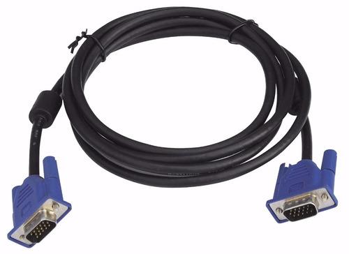 Puntotecno - Cable Vga Macho - Macho 3 Mts Negro
