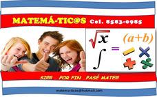 Clases Matemáticas Tutorías Acompañamiento Tareas Desamparad