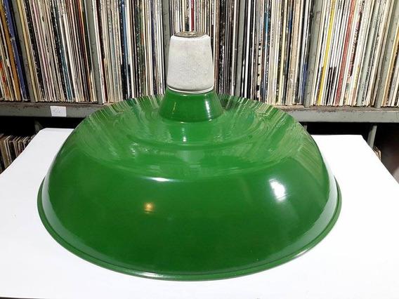 Luminaria Aluminio Industrial Agata Verde Com Soquete