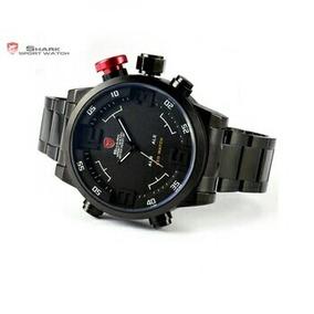 Relógio Masculino Digital/analógico Shark Top Prova Dágua