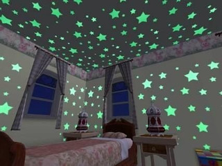 Paq 400 Estrellas Fluorescentes Brillan Obscuridad Con Envio