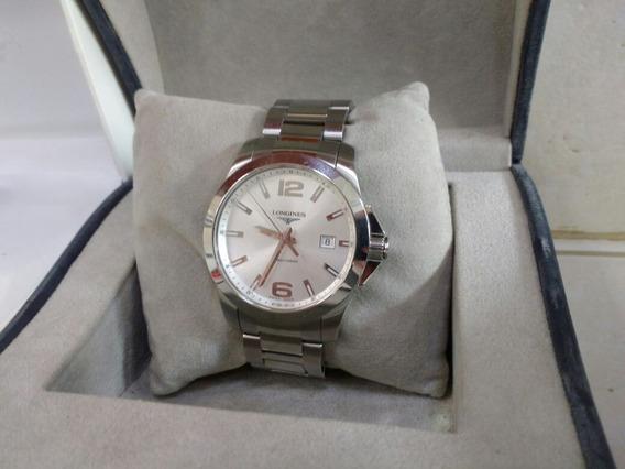 Reloj Longines Conquest Reciente 100% Original De Quarzo