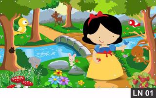 Painel De Festa Branca De Neve Cute Baby 3,00x3,00m Lona