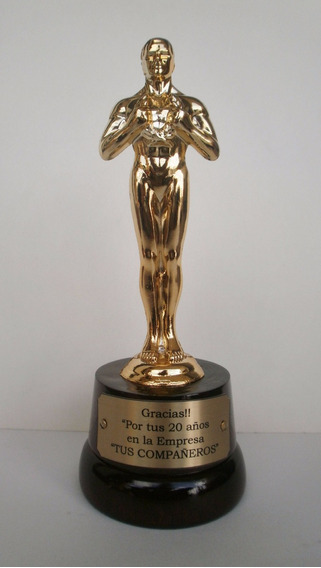 Premio Oscar , Estatuilla De 20 Cm Base De Madera C/grabado