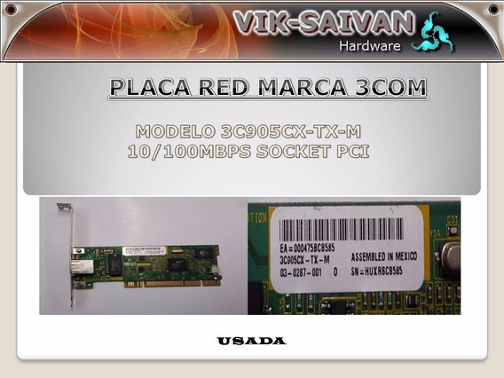 Placa De Red 3com 3c905cx-tx-m 10/100 Pci 75