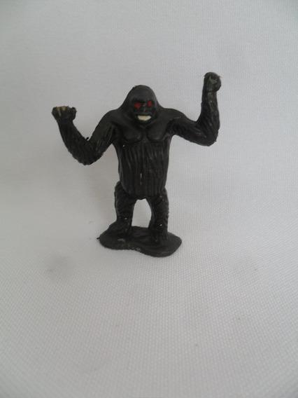 Gorila Diorama Brinquedo Antigo Miniatura Plástico Rígido