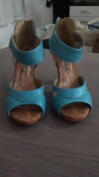 Sapato Azul Da Marca Quiz Tam 35