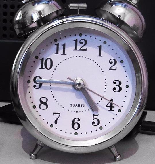 Clássico Relógio Despertador Analógico - 2 Sinos Twin Bell