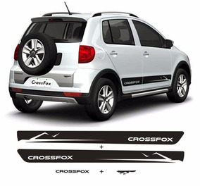 Adesivos Crossfox Faixas Laterais Kit Completo 4 Peças Vw
