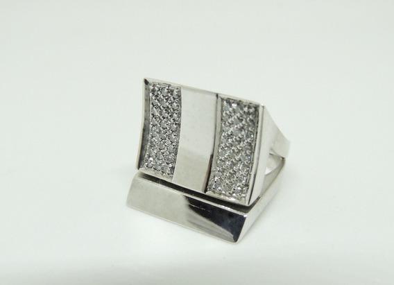 Glitter Joias - Anel Em Ouro 14gr Com 48 Pontos De Diamantes