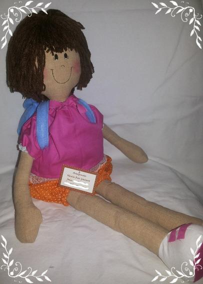 Boneca De Pano Artesanal Dora Aventureira 50 Cm
