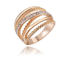 Anéis De Luxo Banhado A Ouro