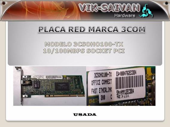 Placa De Red 3com 3csoho100-tx 10/100 Pci 91