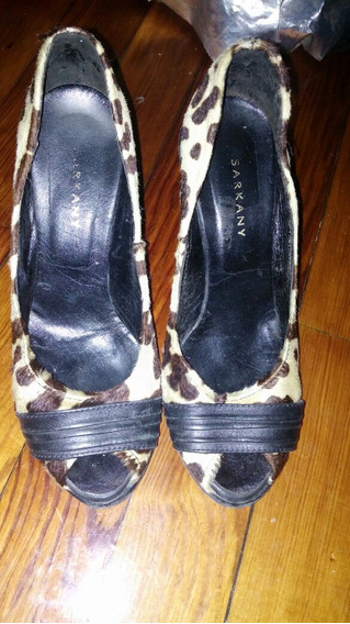 Sarkany: Divinos Zapatos Animal Print Con Taco Chino T.37!!