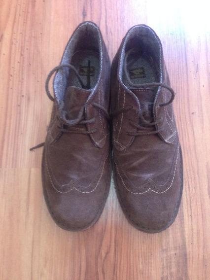 Zapato Botin De Gamuza Tipo Oxford Talla 10.5 Us