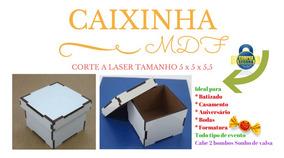 Caixa Mdf Branco 5,5x5,5x4,5 Caixinha Kit Com 200 Unid.