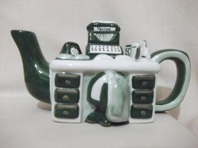 B. Antigo - Bule Escrivaninha Em Porcelana Italiana