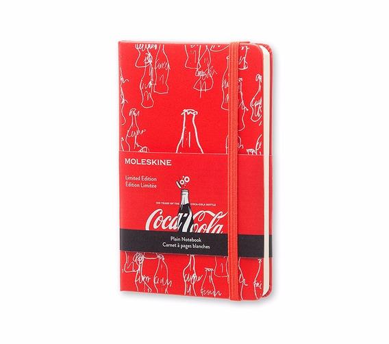 Caderno Moleskine Coca Cola Sem Paut Capa Dura De Bolso 1256